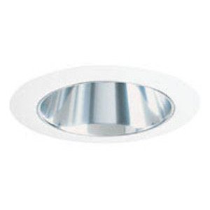"Juno Lighting 447-CWH Cone Trim, Adjustable, 4"", Clear Reflector/White Trim"
