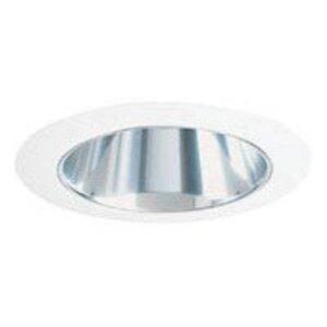 "Juno Lighting 447-HZWH Cone Trim, Adjustable, 4"", Haze Reflector/White Trim"