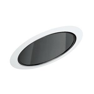 "Juno Lighting 602-BWH Slope Trim, Super Sloped, 6"", Black Alzak Reflector/White Trim"