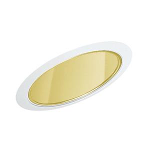 "Juno Lighting 602-GWH Slope Trim, Super Sloped, 6"", Gold Alzak Reflector/White Trim"