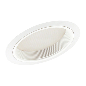 "Juno Lighting 610-WWH Slope Trim, Lensed Shower, 6"", White Baffle/White Trim"