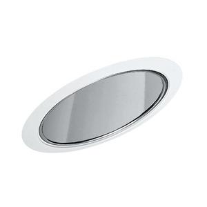 "Juno Lighting 612-CWH Slope Trim, Cone, 6"", Clear Alzak Reflector/White Trim"