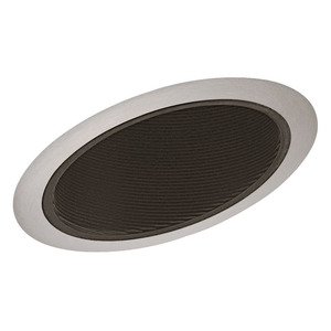 "Juno Lighting 614-BSC Slope Trim, Standard, 6"", Black Baffle/Satin Chrome Trim"