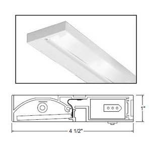 "Juno Lighting ULH322-BL Undercabinet Fixture, 22"", 3-Lamp, Pro-Series Halogen, Black"