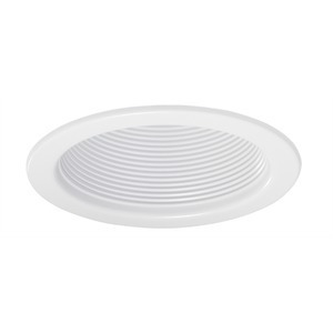 "Juno Lighting V4034-WWH Baffle Trim, 4"", White Baffle/White Trim"