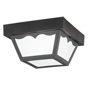 Kichler 9320BK OUTDOOR FLUSH MT 1LT