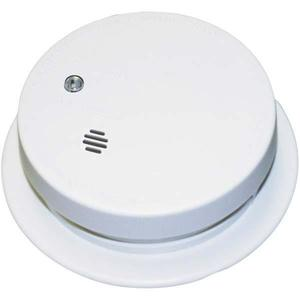 "Kidde Fire 0914E Smoke Alarm, 4"" Diameter, 9V Battery Powered, Ionization, White"