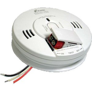 Kidde Fire 21007624 Smoke & Carbon Monoxide Alarm, Hardwired, Battery Backup