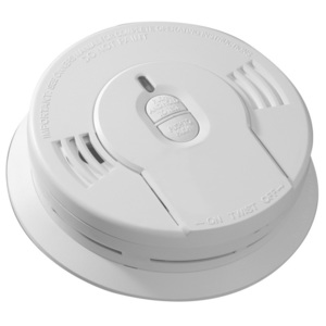 "Kidde Fire 21008697 Smoke Alarm, 3V Lithium Battery, 85dB @ 10', Diameter: 5.6"", White"