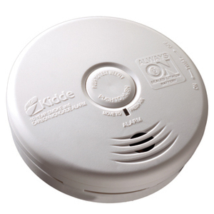 Kidde Fire 21010064 Smoke Detector, Photoelectric, Battery Powered, White