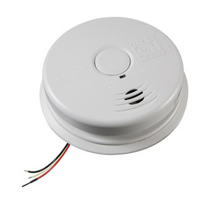 Kidde Fire 21010407-A Smoke Alarm, 120VAC Wire-In, Sealed Lithium Battery Back-Up