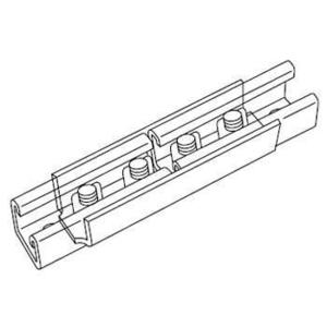 "Kindorf B-941 Joiner, Kindorf B-905 Series Channel, Bolt Hole: 9/16"", Steel/Galvanized"