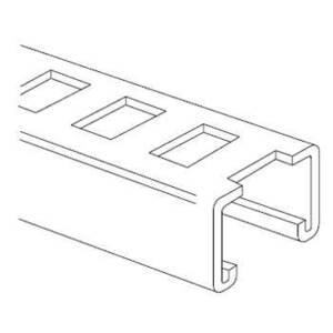 Kindorf J-864 Slotted Channel, Steel, Galv-Chrome Finish,