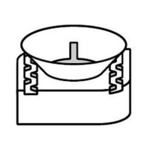 Kindorf UC100-3/8 Nylon Cone Nut