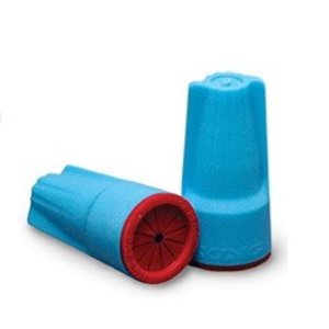 King Innovation 62235 Waterproof Connectors, Aqua/Red, Bag of 100