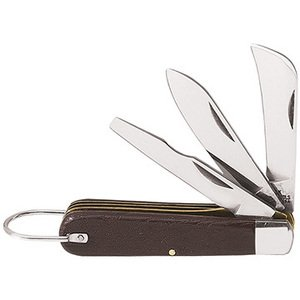 Klein 1550-6 3-Blade Pocket Knife, Sheepfoot, Spearpoint, Screwdriver-Tip