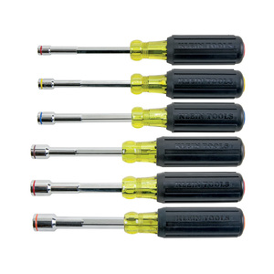 Klein 635-6 Heavy Duty Nut Driver Kit, 6 Piece Set