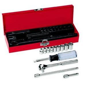 "Klein 65500 13-Piece 1/4"" Drive Socket Wrench Set"