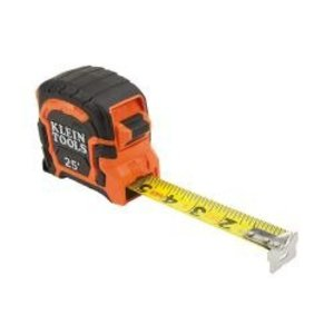 Klein 86125 Single Hook Tape Measure, 25'