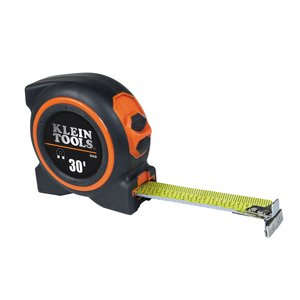 Klein 93430 Tape Measure, Magnetic Dual End-Hook, Double-Sided, 30'