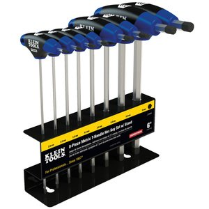 Klein JTH68M 8-Piece Hex Key Set, Metric, T-Handle