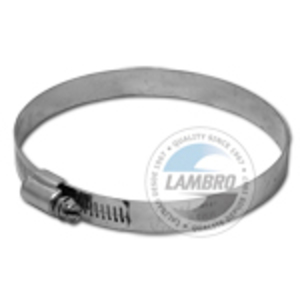 "Lambro 381 Galvanized Worm Gear Clamp, 6"""