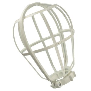 Leviton 12200-W Lamp Guard, Wire Type, Plastic, White