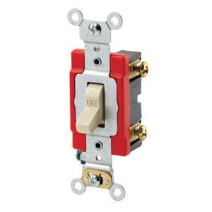 Leviton 1221-LHI Single-Pole Lighted Handle Switch