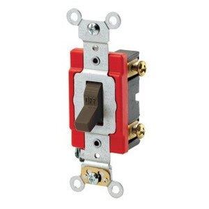 Leviton 1222-2 Double-Pole Toggle Switch, Brown