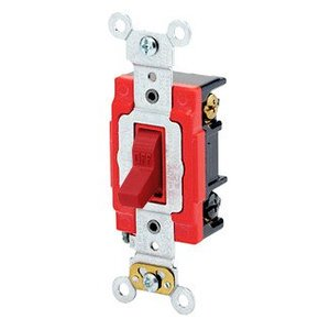 Leviton 1223-2R 3-Way Toggle Switch, Red