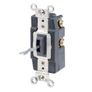 Leviton 1285-L 1-Pole Locking Maintained Switch, 20A, Double Throw, Blk
