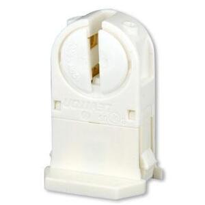Leviton 13654-TNP Fluorescent Lampholder, Miniature Base, White