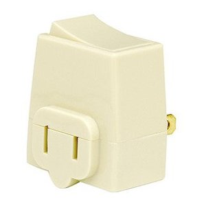 Leviton 1469-I 13 Amp, Plug-In Switch Tap, Ivory