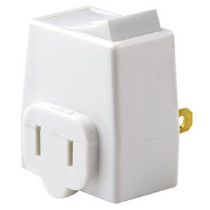 Leviton 1469-W 13 Amp, Plug-In Switch Tap, White