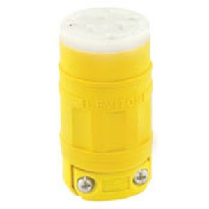 Leviton 1533 20 Amp Connector, 125 Volt, 5-20R, Dust-tight, Yellow