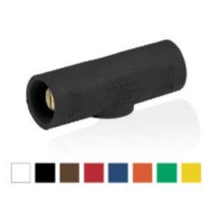Leviton 16D25-UE Cam Connector, Male Plug, Contact & Insulator, #2-#1 AWG, Black