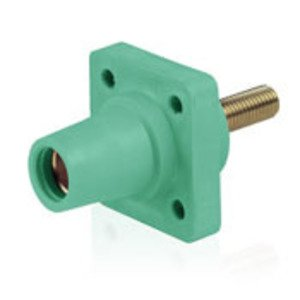 Leviton 16R24-UG Female, Panel Receptacle, 90-Deg, Threaded Stud, 2-4/0 AWG, Green