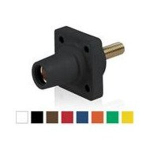 Leviton 16R24-UH Female, Panel Receptacle, 90-Deg, Threaded Stud, 2-4/0 AWG, Brown