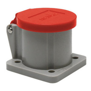 Leviton 16S31-UR Male/Female, Thermoplastic Housing and Cover, Red