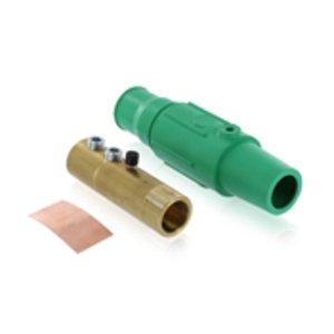 Leviton 17D23-G Female, Plug, Cam-Type, Double Set Screw, 250-350 MCM, Green
