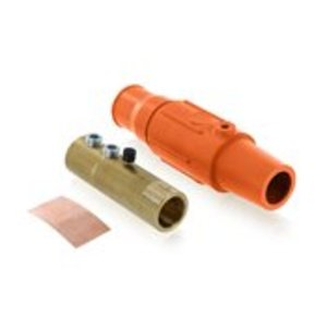 Leviton 17D23-O Female, Plug, Cam-Type, Double Set Screw, 250-350 MCM, Orange
