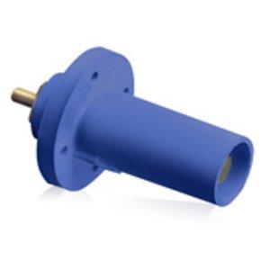 Leviton 17R21-B Male, Panel Receptacle, 90 Deg., 250-750 MCM,  Threaded Stud, Cam-Type, Blue