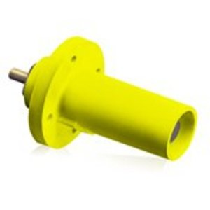Leviton 17R21-Y Male, Panel Receptacle, 90 Deg., 250-750 MCM,  Threaded Stud, Cam-Type, Yellow