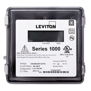 Leviton 1R120-21 200A, 1P, Series 1000, Single Element Meter