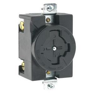 Leviton 20403 Locking Non-NEMA Receptacle, 30A, 600VAC
