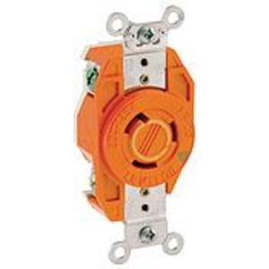 Leviton 2310-IG Locking Single IG Receptacle, 20A, 125V, 2P3W