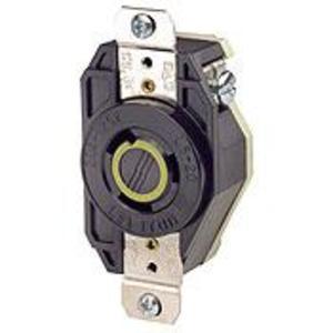 Leviton 2310 Locking Receptacle, 20A, 125V, L5-20R, 2P3W