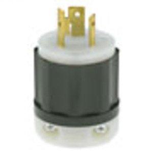Leviton 2311 Locking Plug, 20A, 125V, L5-20P, 2P3W