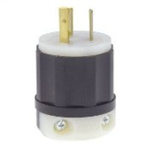 Leviton 2331 Locking Plug, 20A, 277VAC, 2P3W