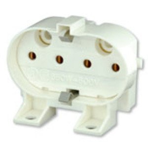 Leviton 23455 Compact Fluorescent Lampholder, Horizontal, Screw Mount, 2G11